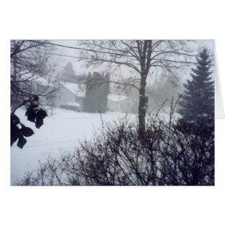 Kanadisches Schneeszene Weihnachten Karte