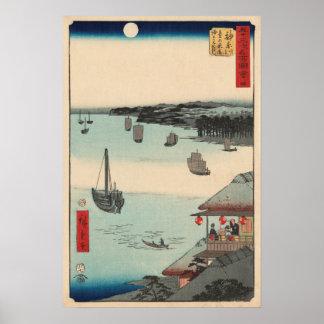 Kanagawa, Japan: Vintager Woodblock Druck Poster