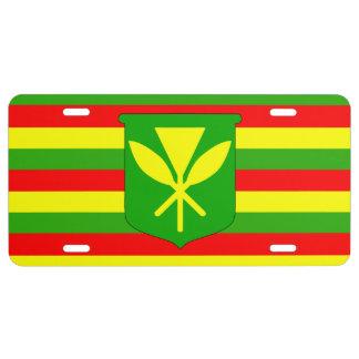 Kanaka Maoli Flagge US Nummernschild