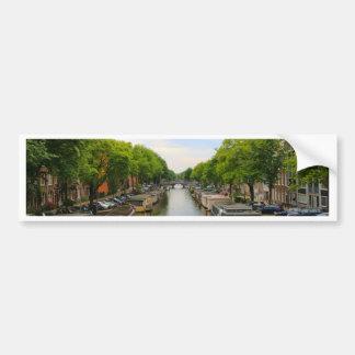 Kanal, Brücken, Fahrräder, Boote, Amsterdam, Autoaufkleber