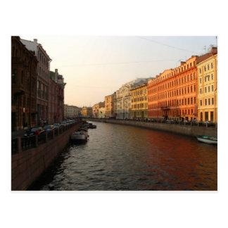 Kanal in St Petersburg, Russland Postkarte