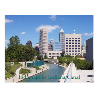Kanal Indianapolis Indiana Postkarte