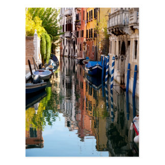 Kanal morgens postkarte