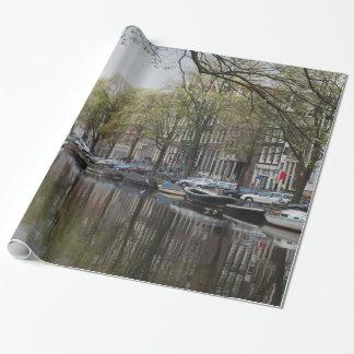 Kanäle in Amsterdam, Holland Geschenkpapier