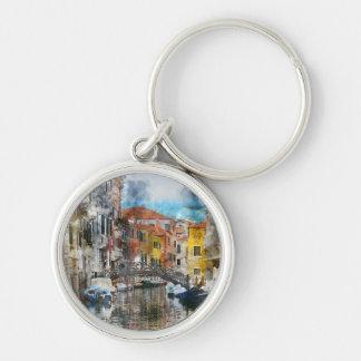 Kanäle von Aquarell Venedigs Italien Schlüsselanhänger