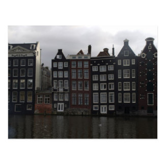 Kanalhäuser in Amsterdam Postkarte