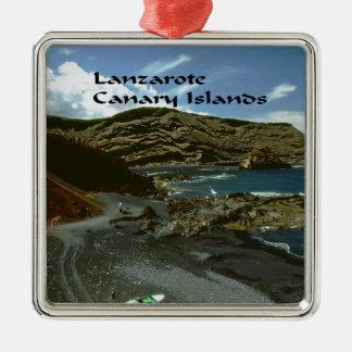 Kanarische Inseln Lanzarote Quadratisches Silberfarbenes Ornament