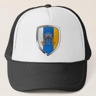 Kanarische Inseln Mettalic Emblem Truckerkappe