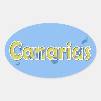 Kanarische Inseln Ovaler Aufkleber