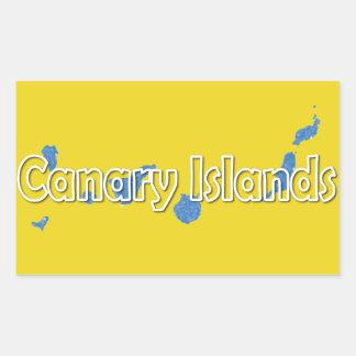 Kanarische Inseln Rechteckiger Aufkleber