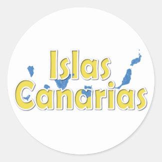 Kanarische Inseln Runder Aufkleber