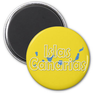 Kanarische Inseln Runder Magnet 5,1 Cm