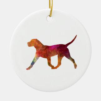 Kanarischer Dogo im Watercolor Keramik Ornament