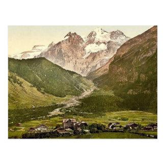 Kandersteg, Hotel Victoria und Blumlisalp, Bernese Postkarte