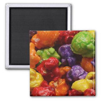Kandierter Popcorn-Magnet Quadratischer Magnet