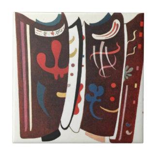 Kandinsky Brown mit der Ergänzung abstrakt Keramikfliese