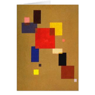 Kandinsky dreizehn Rechteck-abstrakte Malerei Karte