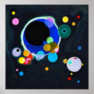 Kandinsky einige Kreis-Plakat Poster