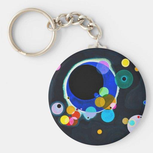 Kandinsky einige Kreis-Schlüsselkette Schlüsselbänder