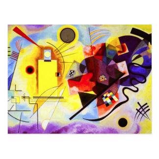 Kandinsky gelbe rote blaue Postkarte