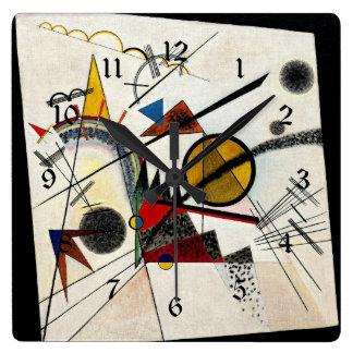 Kandinsky - im schwarzen Quadrat Quadratische Wanduhr