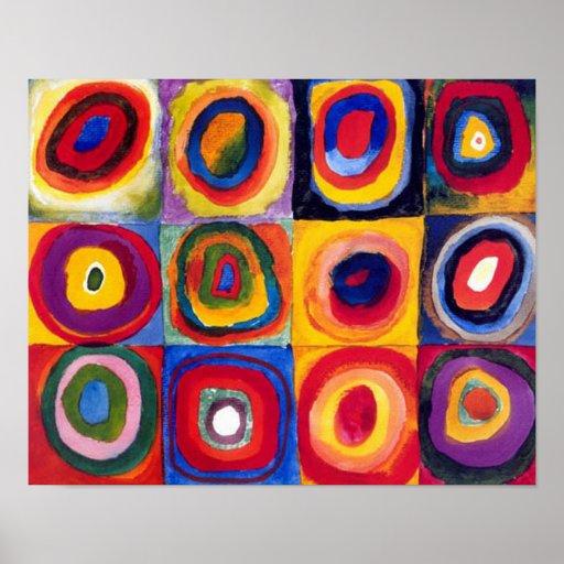 Kandinsky konzentrische Kreis-Kunst-Plakat