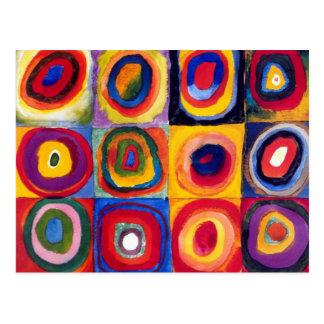 Kandinsky konzentrische Kreis-Postkarte Postkarte