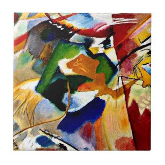 Kandinsky - Malerei mit grüner Mitte Keramikfliese