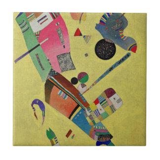 Kandinsky - Mäßigung Kleine Quadratische Fliese