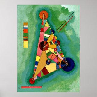 Kandinsky - mehrfarbiges Dreieck Poster