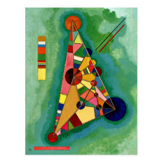 Kandinsky - mehrfarbiges Dreieck Postkarte