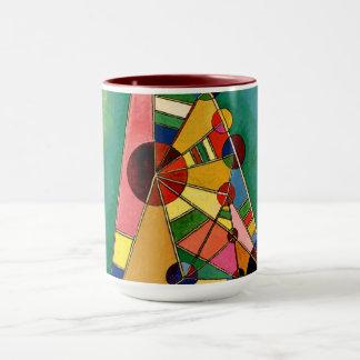 Kandinsky - mehrfarbiges Dreieck Tasse