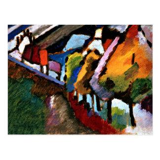 Kandinsky - Murnau Schloss und Kirche Postkarte