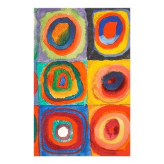 Kandinsky quadriert konzentrische Kreise Briefpapier