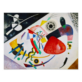 Kandinsky rotes Stellen-Plakat Poster