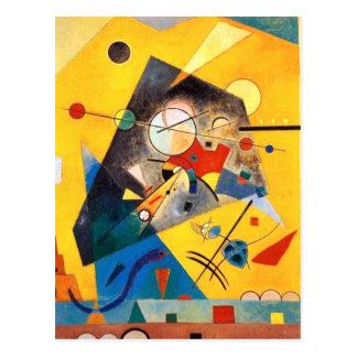 Kandinsky ruhige Harmonie-abstrakte Kunst Postkarte