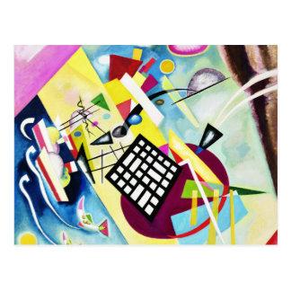 Kandinsky schwarze Gitter-Postkarte Postkarte