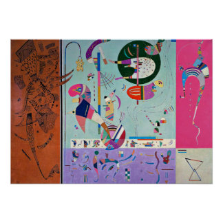 Kandinsky - verschiedene Teile Poster