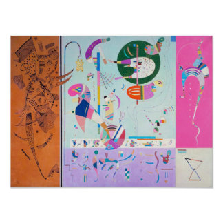 Kandinsky verschiedenes Teil-Plakat Poster