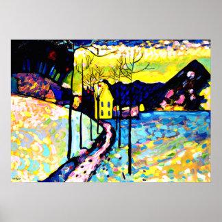 Kandinsky - Winter-Landschaft Poster