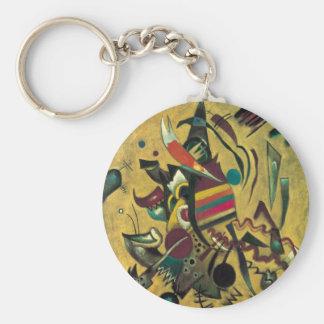 Kandinsky zeigt abstrakte Leinwand-Malerei Schlüsselanhänger