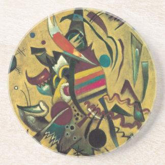 Kandinsky zeigt abstrakte Leinwand-Malerei Untersetzer