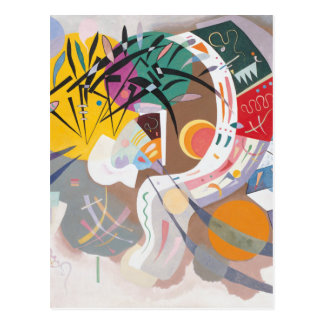 Kandinskys dominierende Kurve abstrakt Postkarte