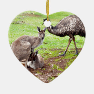 Kangaroo_And_Emu, _ Keramik Ornament