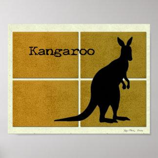 Känguru auf Korken Poster