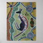 Känguru, der Plakat träumt