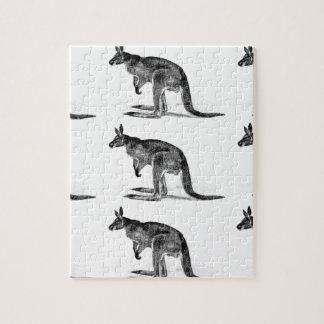 Känguru eingepackt - im Quadrat Puzzle