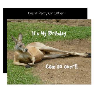 Känguru laden Geburtstags-Party ein Karte
