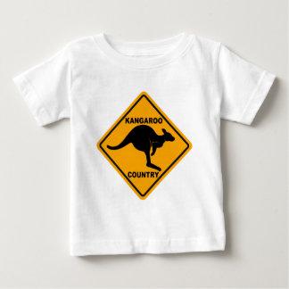 Känguru-Land-Zeichen Baby T-shirt