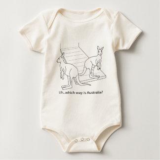 Känguru-Noahs Arche Australien Baby Strampler